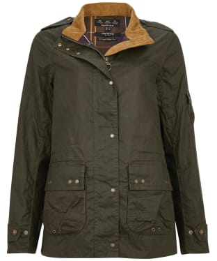 Women's Barbour Moss Waxed Jacket - Archive Olive