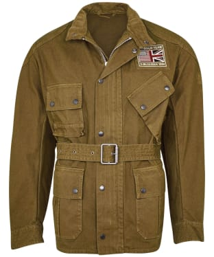 Men's Barbour International Steve McQueen Washed Southwest Casual Jacket - Green