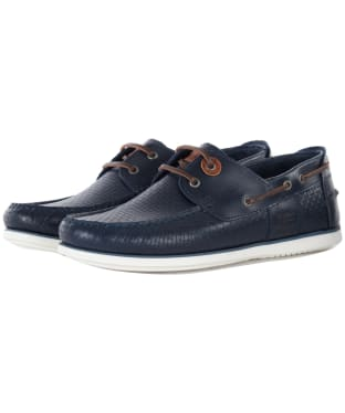 Men's Barbour Capstan Boat Shoes - Navy Print