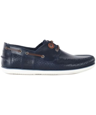 Men's Barbour Capstan Boat Shoes - Navy Print