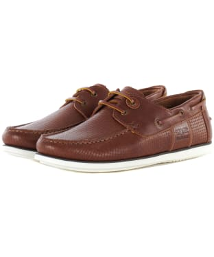 Men's Barbour Capstan Boat Shoes - Tan Print