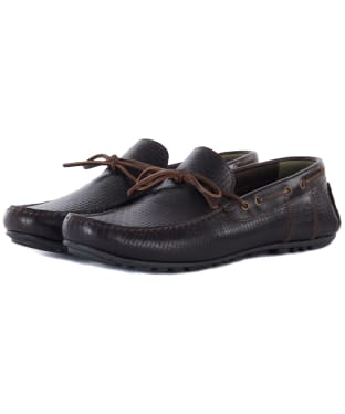 Men's Barbour Clark Driving Shoes - Dark Brown Print