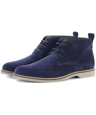Men's Barbour Consett Chukka Boots - Ink Blue