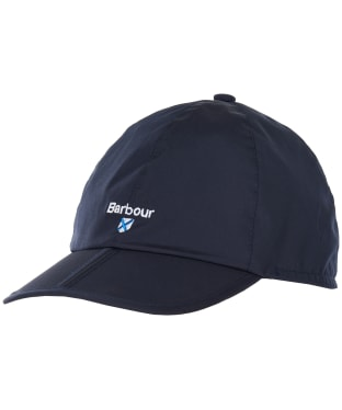 Men's Barbour Crest Waterproof Packaway Sports Cap - Navy