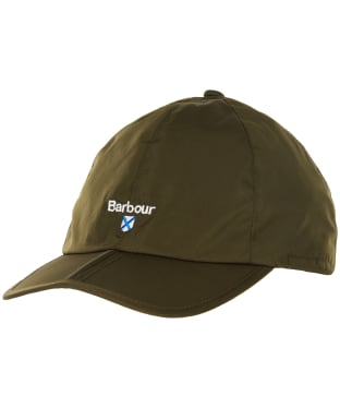 Men's Barbour Crest Waterproof Packaway Sports Cap - Olive