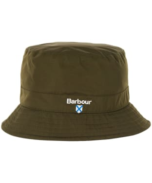Men's Barbour Crest Waterproof Sports Hat - Olive