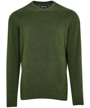 Men's Barbour Pima Cotton Crew Neck Sweater - Rifle Green Marl