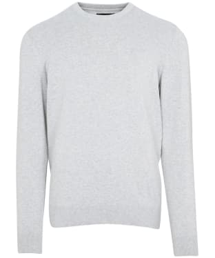 Men's Barbour Pima Cotton Crew Neck Sweater - Chalk Marl