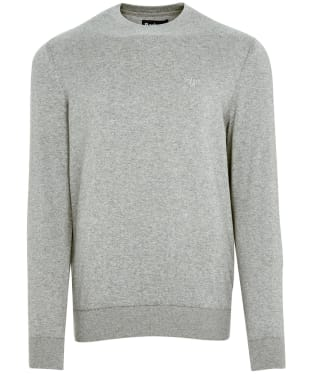 Men's Barbour Light Cotton Crew Neck Sweater - Grey Marl