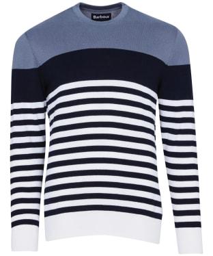 Men's Barbour Brimland Crew Sweater - Washed Blue