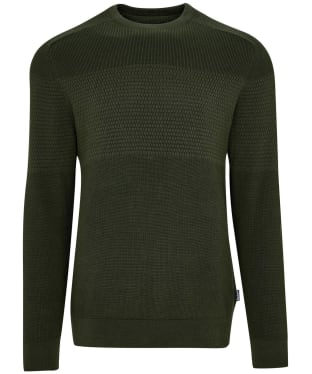 Men's Barbour Textured Block Knit Sweater - Rifle Green