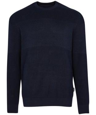 Men's Barbour Textured Block Knit Sweater - Navy