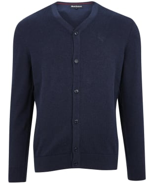 Men's Barbour Cotton Cardigan - Navy Marl