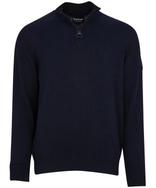 Men's Barbour International Cotton Half Zip Sweater - International Navy