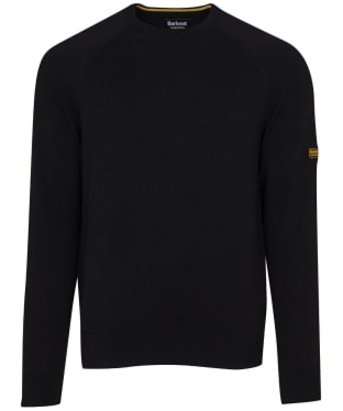 Men's Barbour International Cotton Crew Neck Sweater - Black