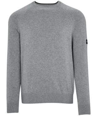 Men's Barbour International Cotton Crew Neck Sweater - Anthracite Marl