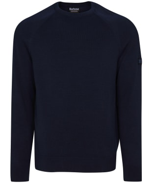 Men's Barbour International Cotton Crew Neck Sweater - International Navy