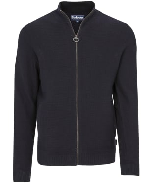Men's Barbour Abhainn Zip Thru Sweater - Navy