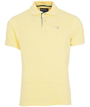 Men's Barbour Tartan Pique Polo Shirt - Corn