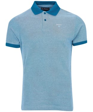 Men's Barbour Sports Polo Mix Shirt - Lyons Blue