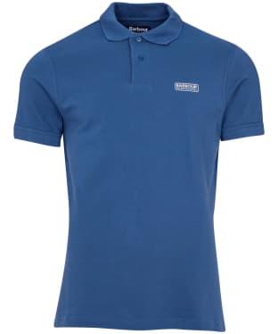 Men's Barbour International Essential Polo - Mid Blue