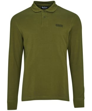 Men's Barbour International Long Sleeve Polo Shirt - Vintage Green