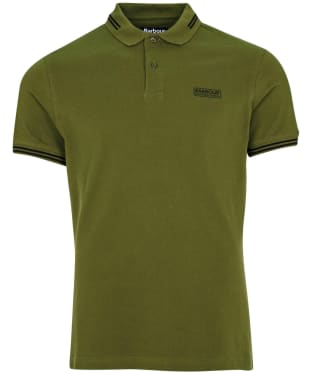 Men's Barbour International Essential Tipped Polo Shirt - Vintage Green