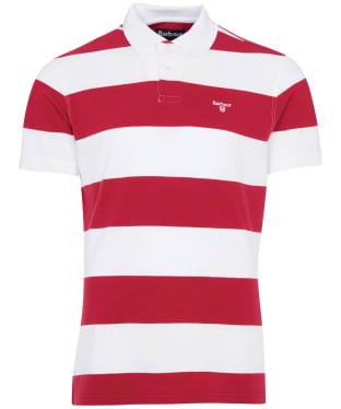 Men's Barbour Harren Stripe Polo Shirt - Raspberry