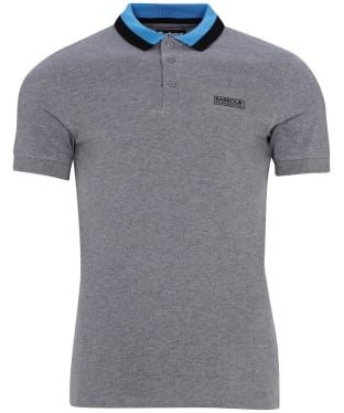 Men's Barbour International Ampere Polo - New Anthracite Marl