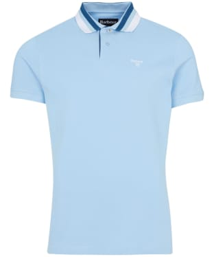 Men's Barbour Hawkeswater Tipped Polo Shirt - Powder Blue