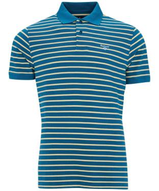 Men's Barbour Styhead Stripe Polo Shirt - Lyons Blue