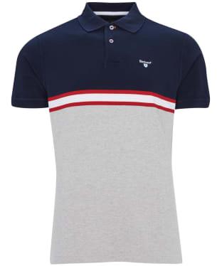 Men's Barbour Block Colour Polo Shirt - Navy