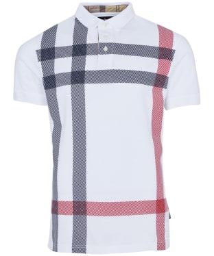 Men's Barbour Blaine Polo Shirt - White