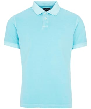 Men's Barbour Washed Sports Polo Shirt - Aquamarine