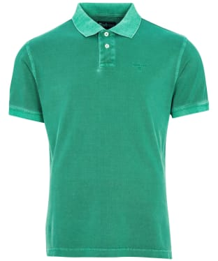 Men's Barbour Washed Sports Polo Shirt - Turf