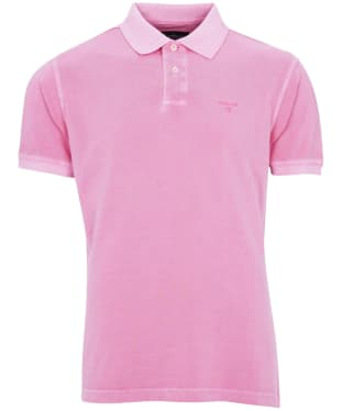 Men's Barbour Washed Sports Polo Shirt - Mauve