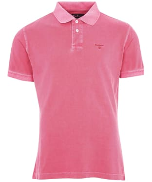 Men's Barbour Washed Sports Polo Shirt - Fuchsia