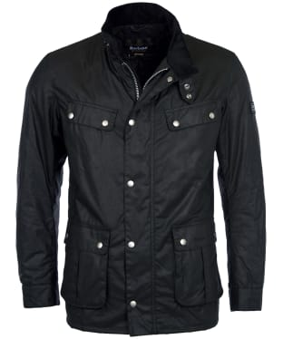 Men's Barbour International Duke Wax Jacket - Black