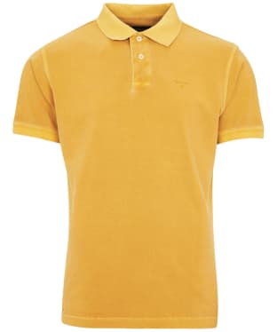 Men's Barbour Washed Sports Polo Shirt - Mustard