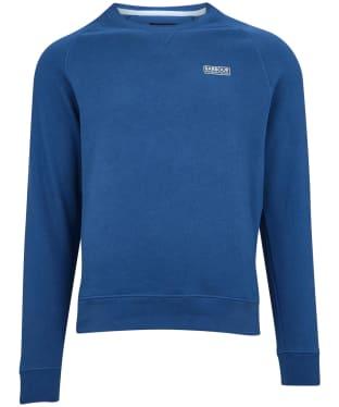 Men's Barbour International Essential Crew Neck Sweat - Mid Blue