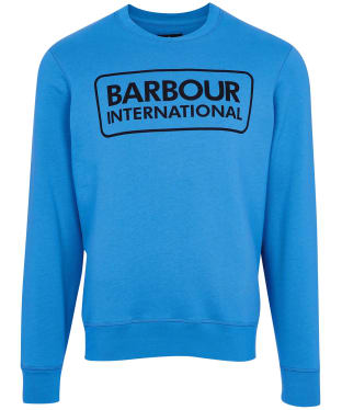 Men's Barbour International Large Logo Sweater - Pure Blue