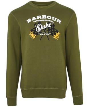 Men's Barbour International Famous Duke Sweater - Vintage Green