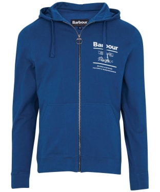 Men's Barbour Reed Hoodie - Estate Blue
