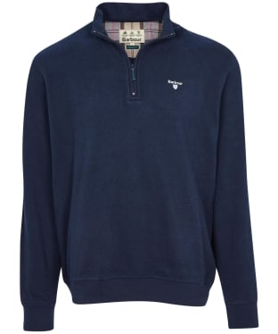 Men's Barbour Bankside Half Zip Sweater - Navy