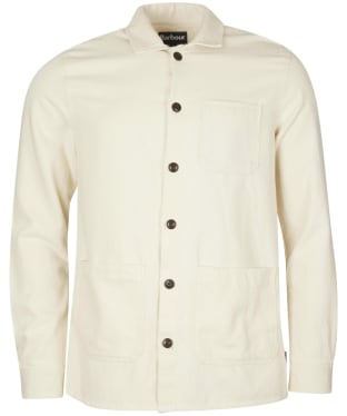 Men's Barbour Stirling Overshirt - Ecru