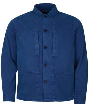 Men's Barbour Loweswater Overshirt - Washed Inky