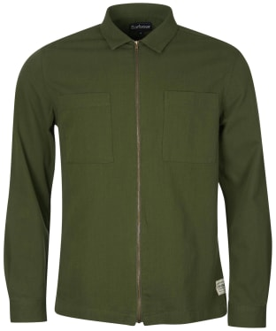 Men's Barbour Ulverston Overshirt - Mid Olive