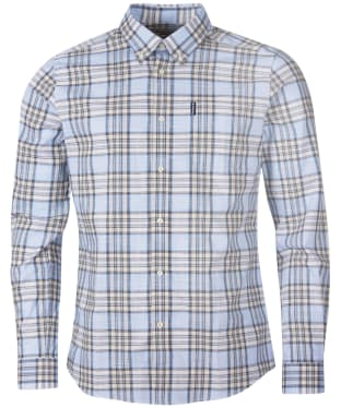 Men's Barbour Highland Check 26 Tailored Shirt - Stone Check