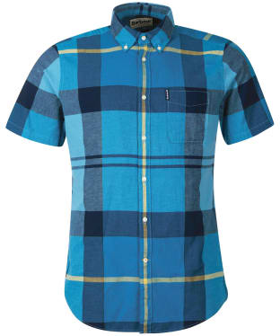Men's Barbour Douglas S/S Shirt - Aqua
