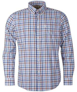Men's Barbour Hallhill Performance Shirt - Stone Check